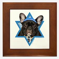 Hanukkah Star of David - Frenchie Framed Tile