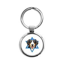 Hanukkah Star of David - Bucher Round Keychain