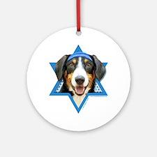 Hanukkah Star of David - Bucher Ornament (Round)