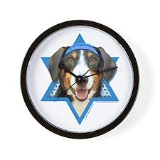 Hanukkah Star of David - Bucher Wall Clock