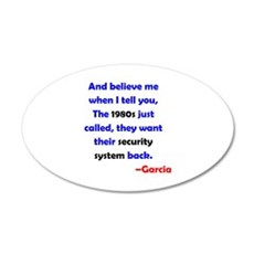1980s Security System Wall Decal