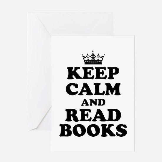 Keep Calm Read Books Greeting Cards