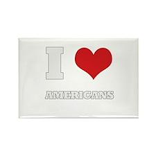 i love americans Rectangle Magnet