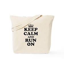 Keep Calm Run On Tote Bag