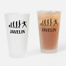 Javelin Throw Evolution Drinking Glass