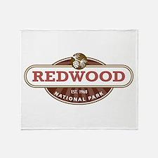 Redwood National Park Throw Blanket