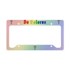 Woven Cross Pillow License Plate Holder