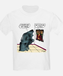 The Thinker & Mona Lisa's Thoughts T-Shirt