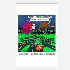 Santa Traffic Reporter Postcards (Package of 8)
