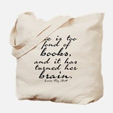 Too Fond of Books Tote Bag
