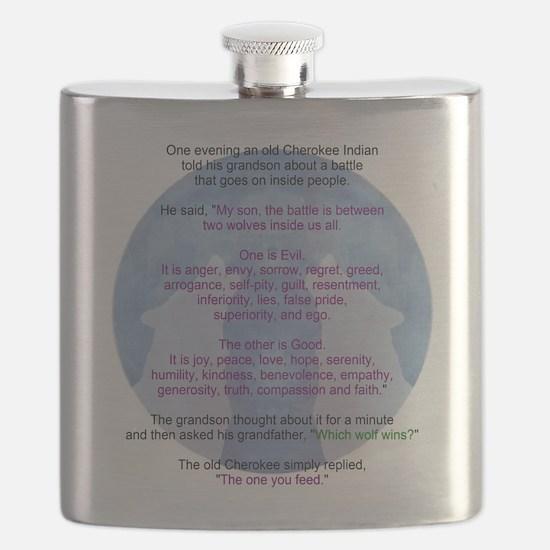 Wolf Wisdom Flask