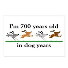 100 dog years birthday 2 Postcards (Package of 8)