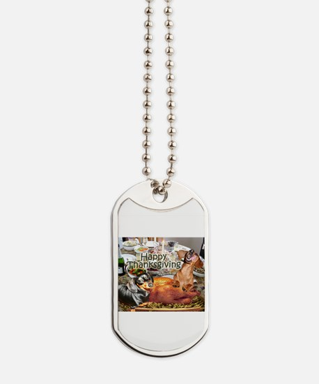 Happy Thanksgiving Dachshund Dogs Dog Tags