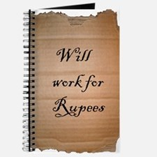 2-will work for rupees rough edged Journal