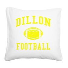Dillon Football Square Canvas Pillow