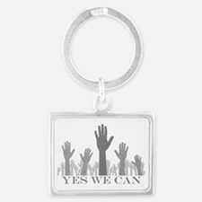 Yes We Can Hands Up Landscape Keychain