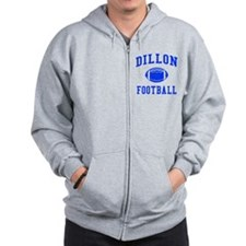 Dillon Football Zip Hoodie