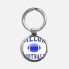 Dillon Football Round Keychain