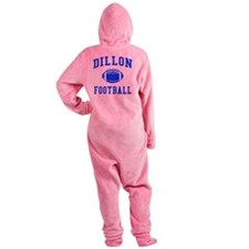Dillon Football Footed Pajamas