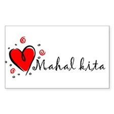 """I Love You"" [Tagalog] Rectangle Decal"