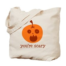You're Scary Jock-O-Lantern Tote Bag