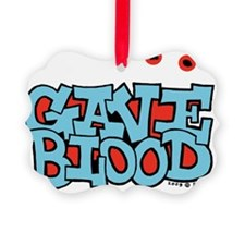 gave_blood_round Ornament