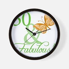 fabulousII_50 Wall Clock