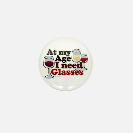 I Need Glasses Mini Button