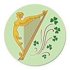 ireland-harp_j Round Car Magnet