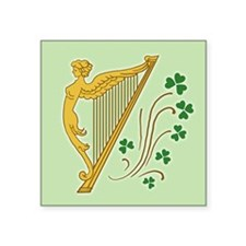 "ireland-harp_j Square Sticker 3"" x 3"""