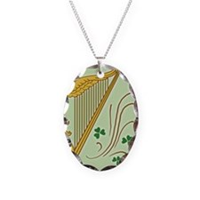 ireland-harp_j Necklace Oval Charm