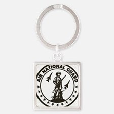 ANG-Minuteman-Patch-Midnight-Blue Square Keychain