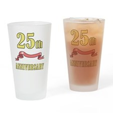 ribbon_25 Drinking Glass