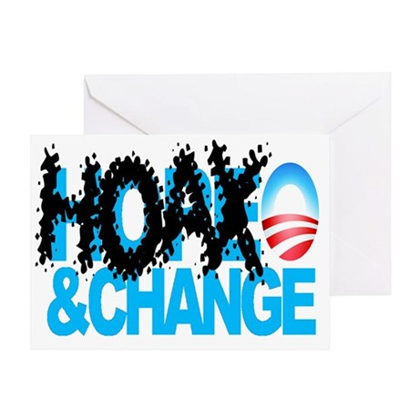 Hoax-and-Change-No-Hope-and-Change Greeting Card