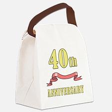ribbon_40 Canvas Lunch Bag