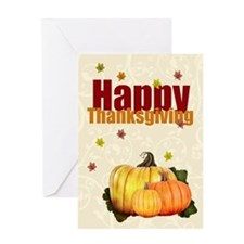 Happy Thanksgiving Pumpkin Greeting Card