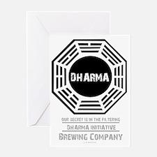 Dharma Beer for dark shirt Greeting Card