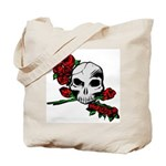 Rose Skull Tote Bag