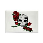 Rose Skull Rectangle Magnet (10 pack)