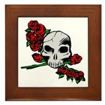Rose Skull Framed Tile