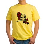 Rose Skull Yellow T-Shirt
