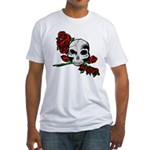 Rose Skull Fitted T-Shirt
