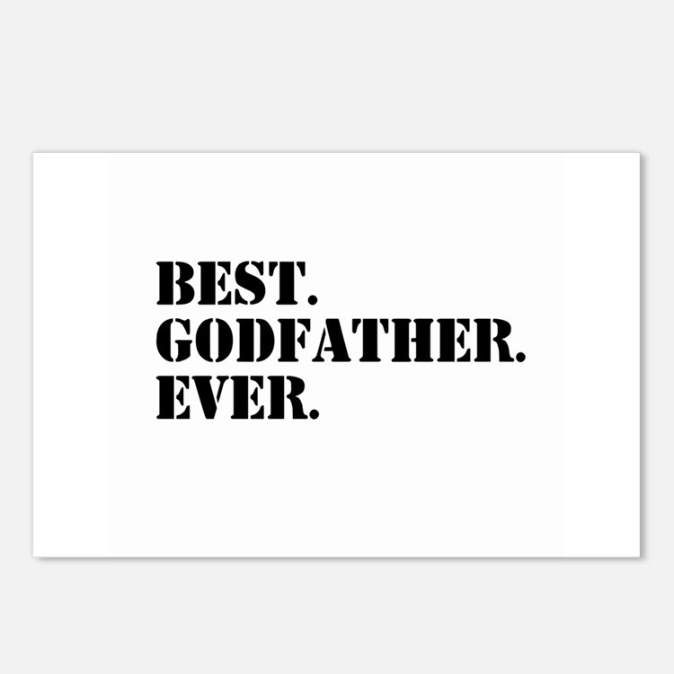 Best Godfather Ever Postcards (Package of 8)