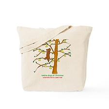 A Dachshund in a Pear Tree Tote Bag