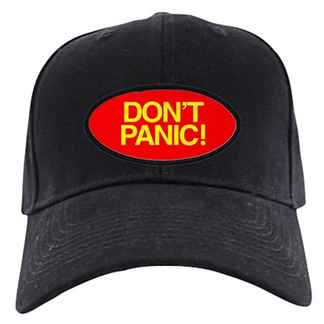 DON'T PANIC Black Cap