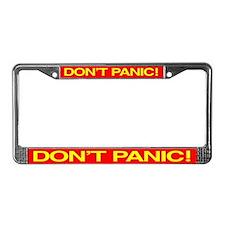 DON'T PANIC License Plate Frame