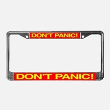 DON'T PANIC License Plate Frame