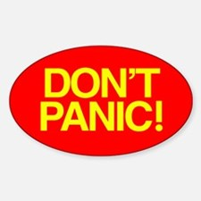 DON'T PANIC Oval Decal