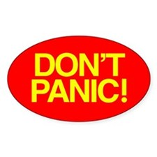DON'T PANIC Oval Stickers