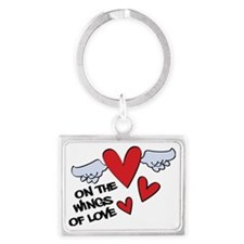 On The Wings Of Love Landscape Keychain